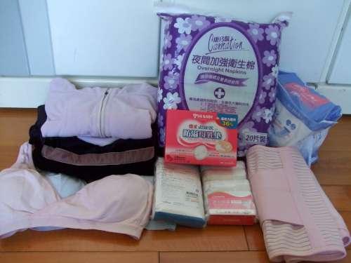 產婦用品 - 哺乳內衣、免洗褲、出院衣服、薄外套、產護墊、束腹帶、防溢母乳墊
