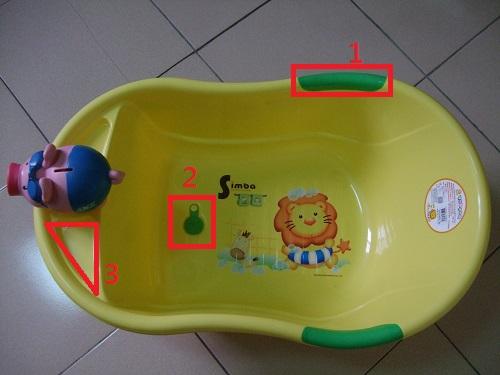 小獅王辛巴嬰嬰兒防滑浴盆正面