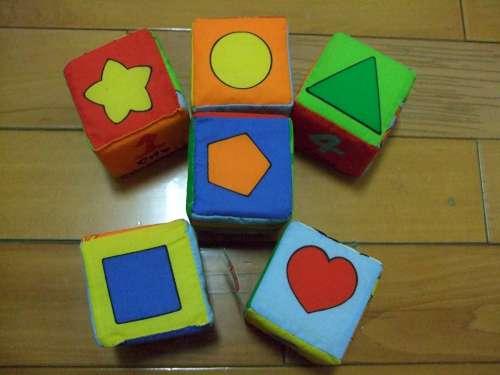 寶寶可愛動物布骰-顏色形狀