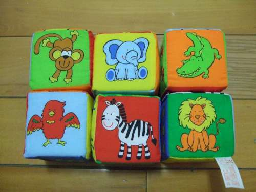 寶寶可愛動物布骰- 認識動物