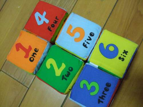 寶寶可愛動物布骰- 認識數字