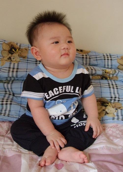 寶寶七個月大的時候