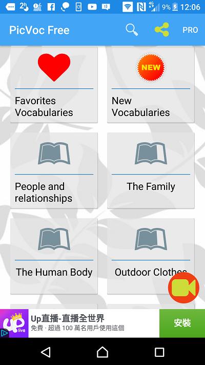 English Vocabulary – PicVoc